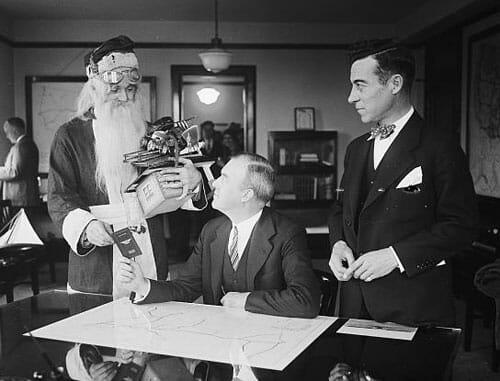 Actual Photo of Santa Getting License