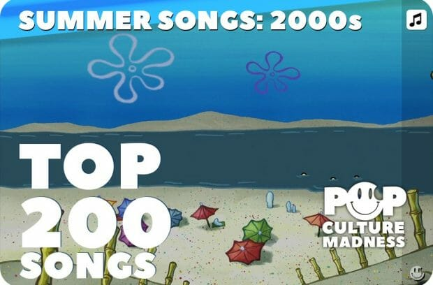 Top 200 Summer Songs Of The 2000s