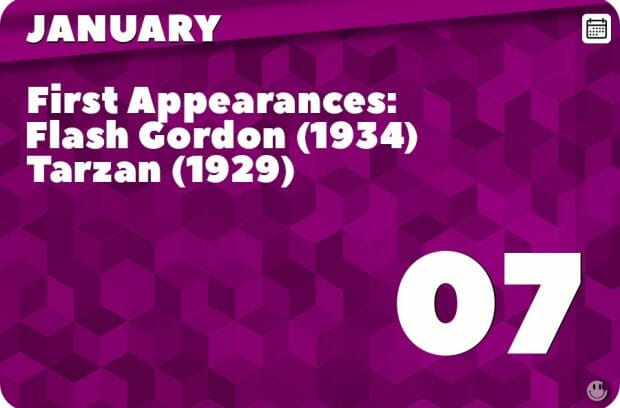 January 7 in Pop Culture History
