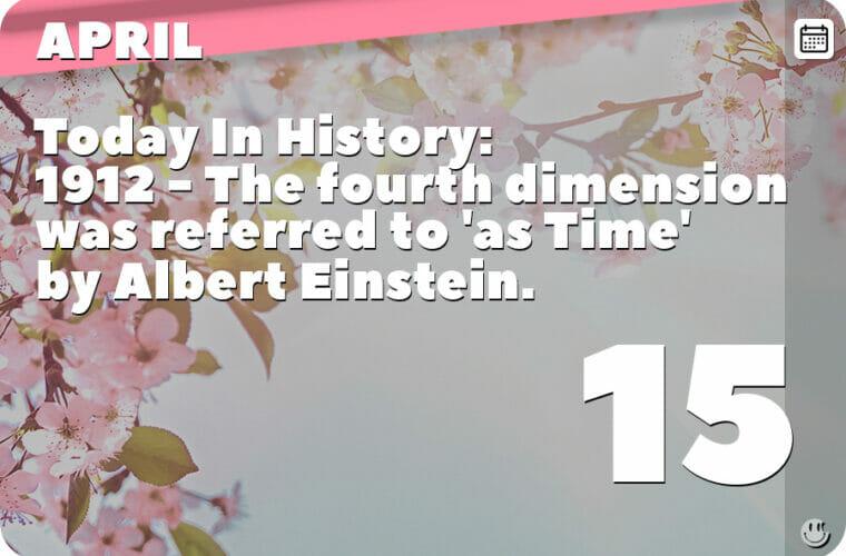 April 15 in Pop Culture History